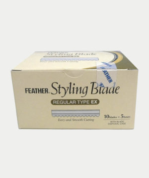 feather styling blades box