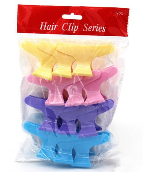 mix color wide hairclips pack